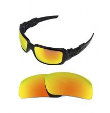 NEW POLARIZED REPLACEMENT FIRE RED LENS FOR OAKLEY OIL DRUM SUNGLASSES